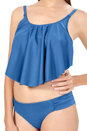 Flounced Swim Crop Top