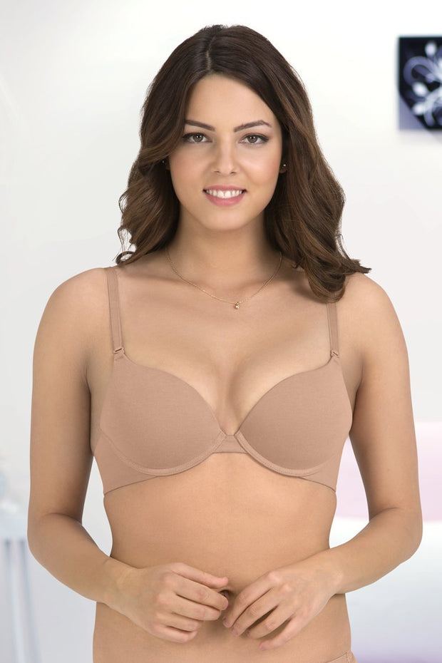 Everyday Cotton Push-up Bra - Sandalwood Color