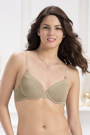 Starry Trail Padded Wired Shimmer Bra - Tuffet Color