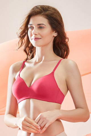 Sculpt Wire Cerise Full-cover Bra
