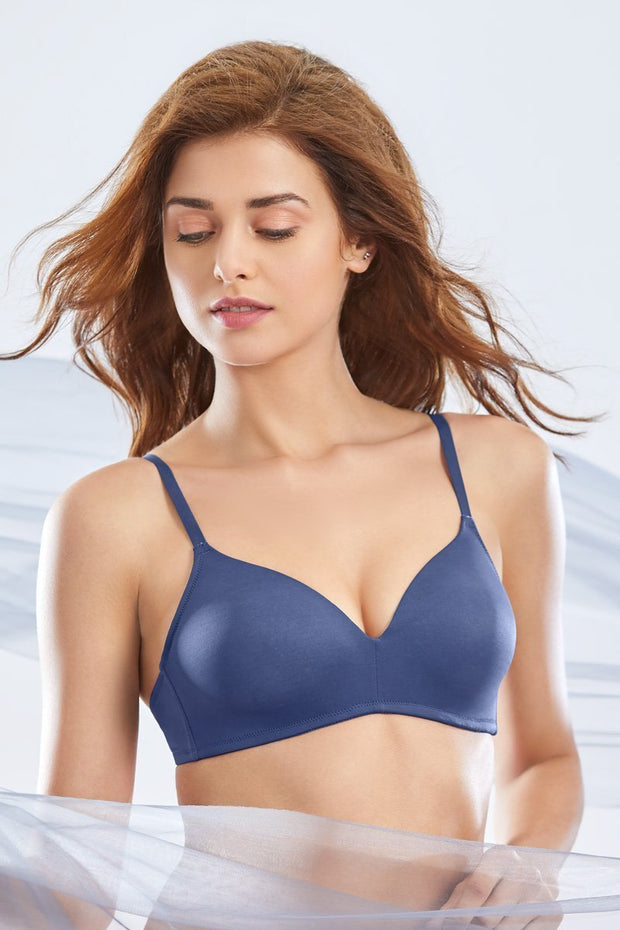 Sculpt Wire Cerise Full-cover Bra - Nightshadow Blue Color
