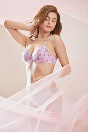 Sculpt Wire Delicate Prints Full-Cover Bra