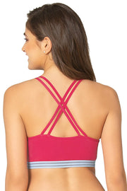 Crisscross Back Cotton Bralette