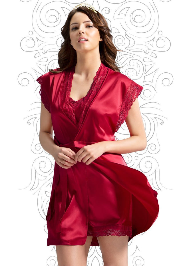 Eternal Romance Robe - Tango Red Color