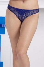 Adore Lace Thong - Blue DepthsColor