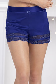 Adore Sleep Lace Shorts - Blue Depths Color