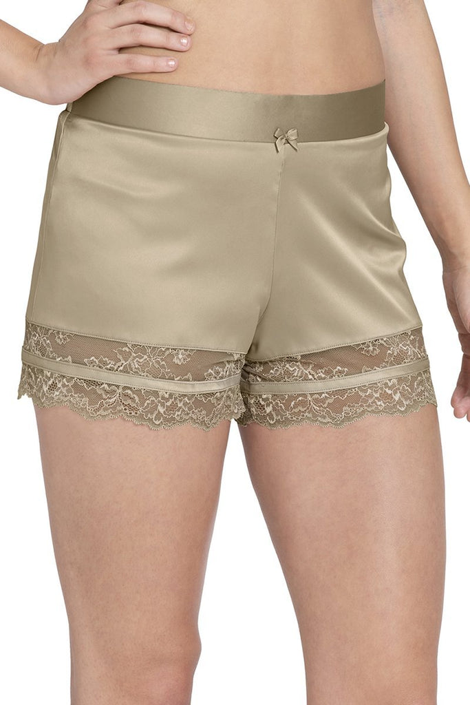 TUFFET | beige-adore-sleep-lace-shorts