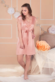 Bridal Bliss Lace Robe - Rose Tan Color