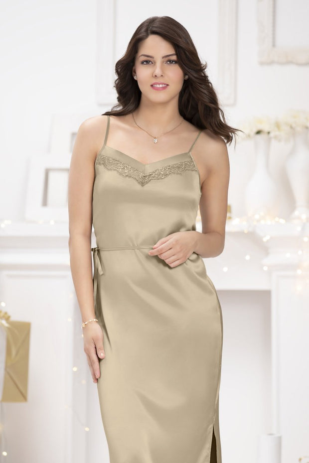 Adore Full Length Chemise - Tuffet Color
