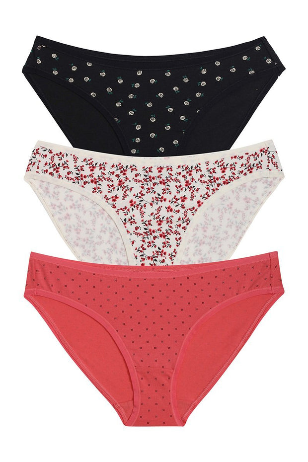 Printed Bikini Panty  (Pack of 3)
