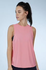 Smooth And Seamless Fitness Tank Top - Shell Pink Color