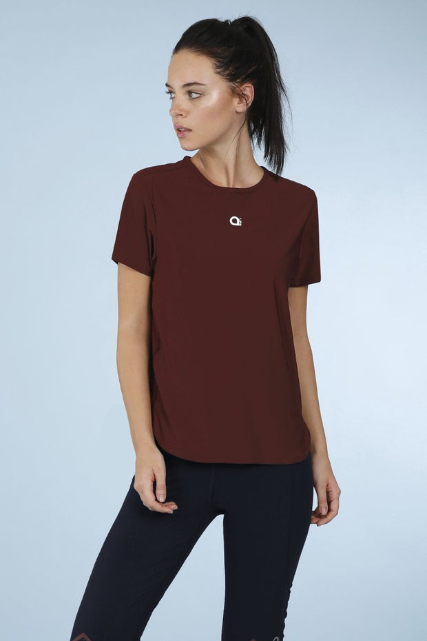 Currant Smooth And Seamless Fitness T Shirt