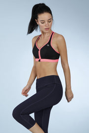 Medium Impact Front Zip Sports Bra