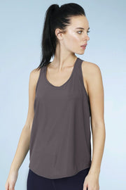 Smooth And Seamless Fitness Tank Top - Lava Stone Color