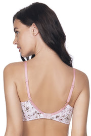 Satin Edge Non Wired Printed Bra