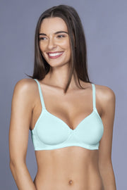 Smooth Charm Non-Wired T-Shirt Bra - Fresh Mint Color
