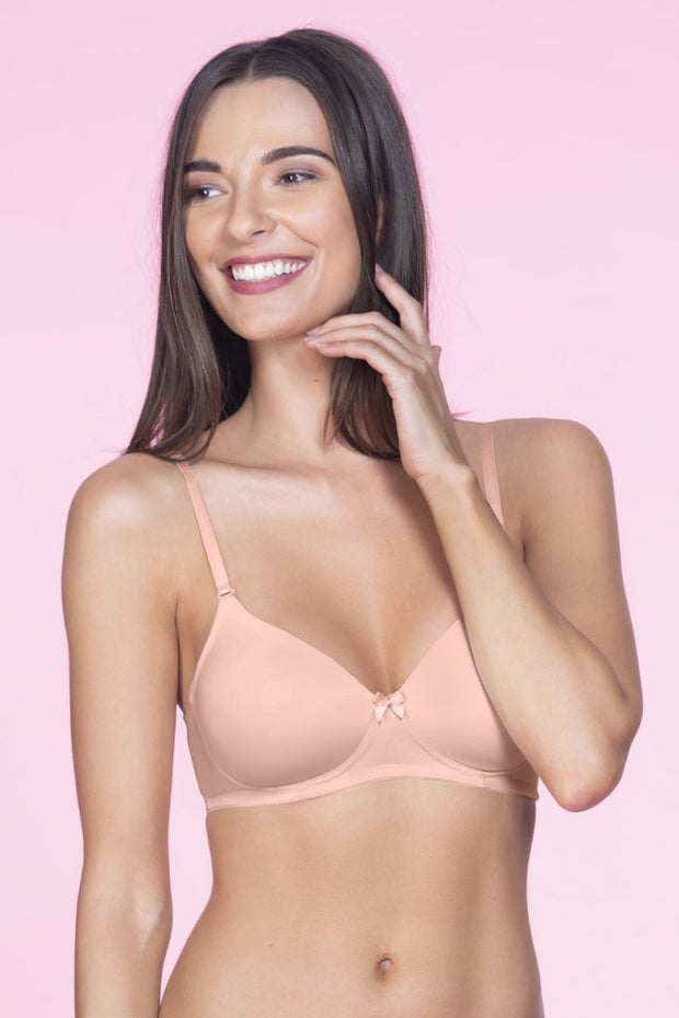 Smooth Charm Non-Wired T-Shirt Bra - Impatiens Pink Color