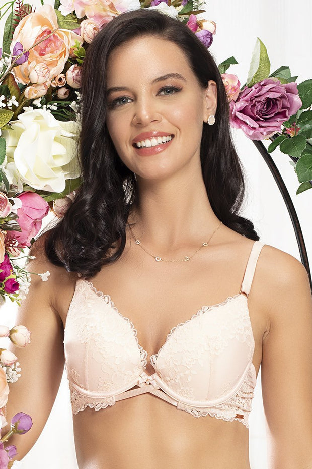 Eternal Bliss Plunge Bra - Pink Pearl Color