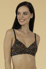 Brocade Beauty Smooth Wirefree Printed Bra