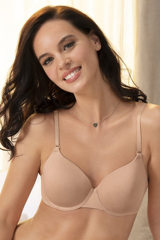 Signature Cotton Padded Wired Bra