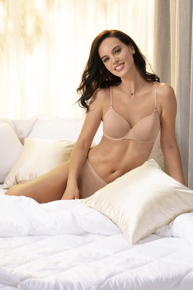 Sandalwood Signature Cotton Padded Wired Bra