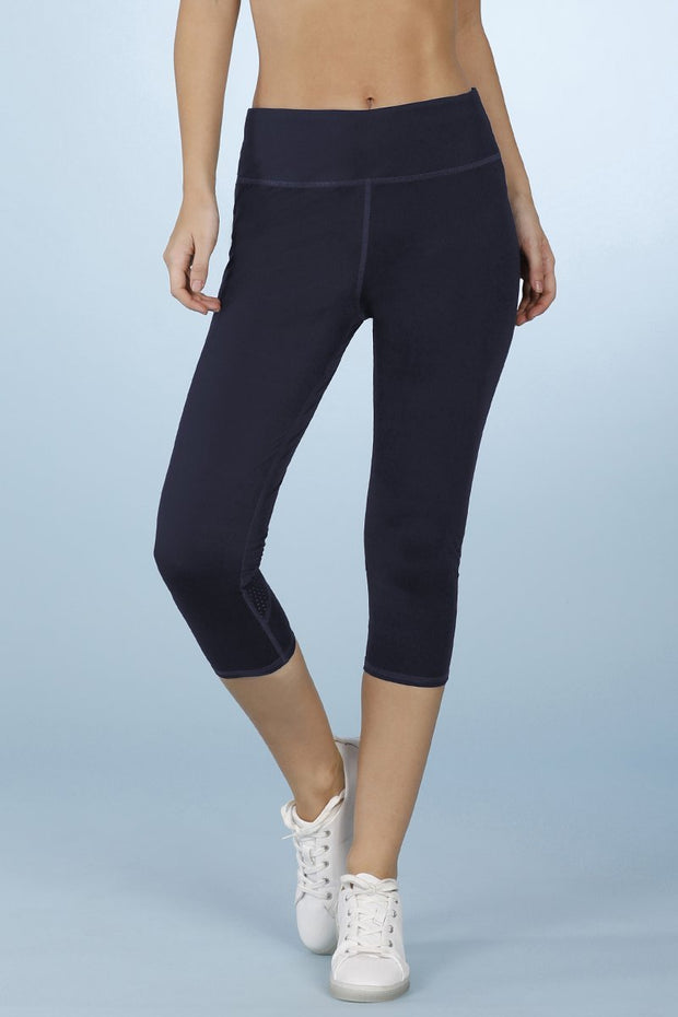 Smooth Fitness Capri Pant - Gibraltar Sea Color