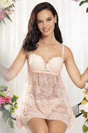 Eternal Bliss Babydoll - Pink Pearl Color
