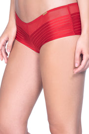 Haute Red Sheer Stripes Boy Shorts