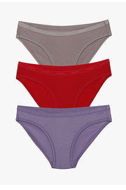 Low Rise Solid Bikini (Pack of 3)