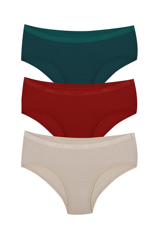 Low Rise Solid Hipster (Pack of 3) - AssortedColor