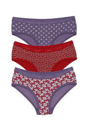 Low Rise Printed Hipster (Pack of 3)
