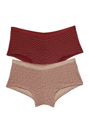 Low Rise Printed Boyshorts (Pack of 2) - AssortedColor