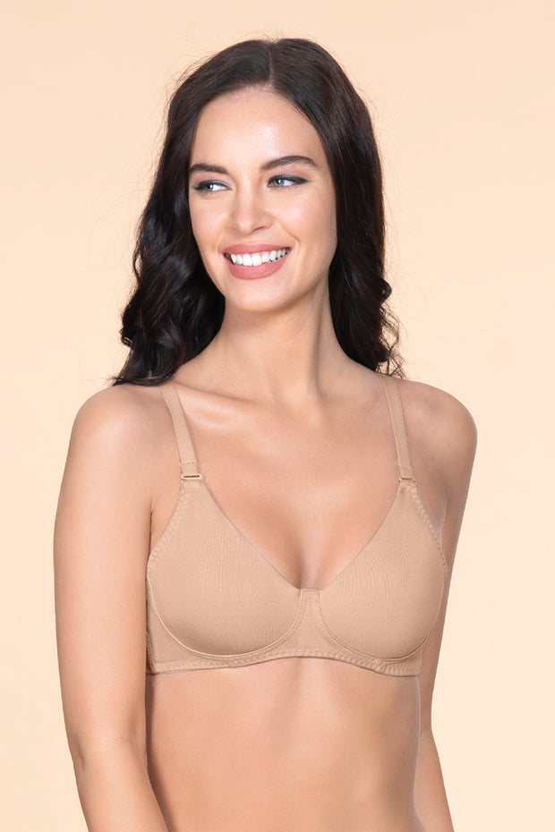 Fresh Aloe Finish Non-Wired Bra - Sandalwood Color