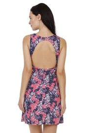 Halter Back Swim Dress