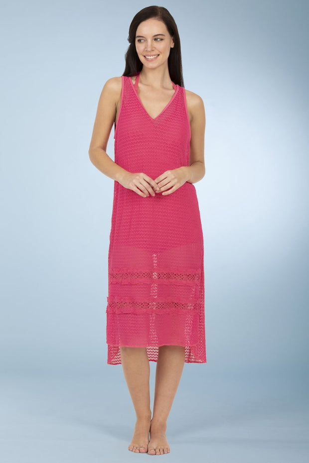 Swim Cover Up - Fandango Pink Color