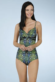 One Piece With Gaped Back - Lake Mosaic Pr Color