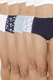 every de Assorted High Rise Full Brief (Pack Of 5)