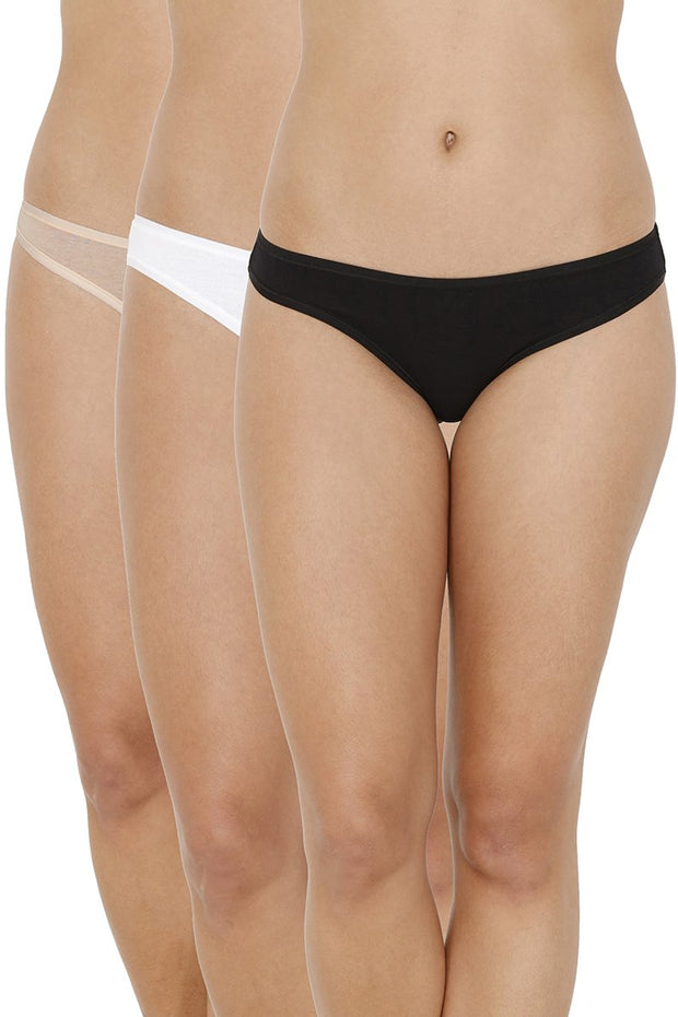 every de Assorted Low Rise Bikini (Pack Of 3) - AssortedColor