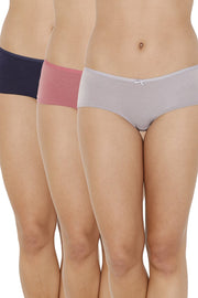 every de Assorted Low Rise Boyshorts (Pack Of 3) - AssortedColor