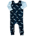 Navy Trucks Zip Romper - Zipease