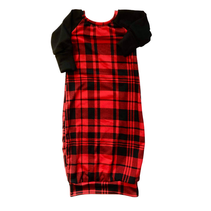 Red Plaid Sleeper - Zipease