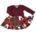 Olive Floral Twirl Dress - Zipease