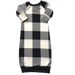 Black & White Plaid Sleeper - Zipease