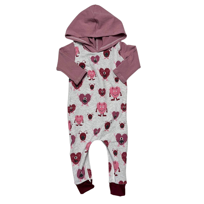 Love Monsters Zip Baby Romper - Zipease