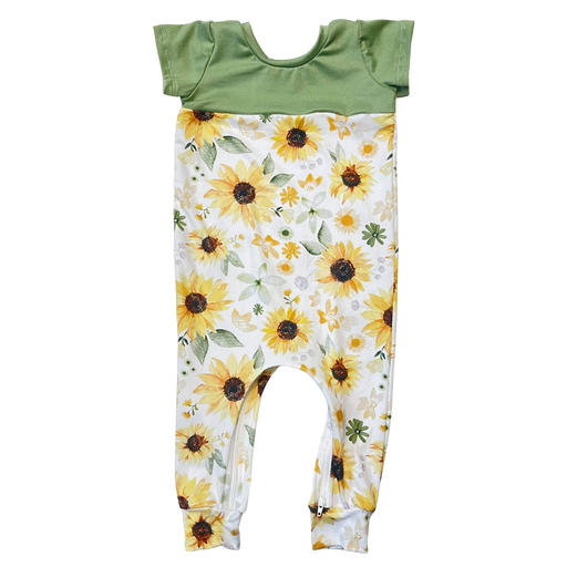 Sunflower Zip Romper - Zipease