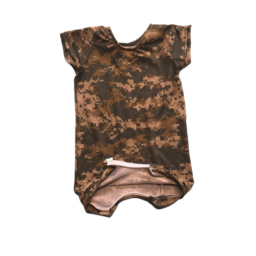 Digital Camo Summer Romper - Zipease