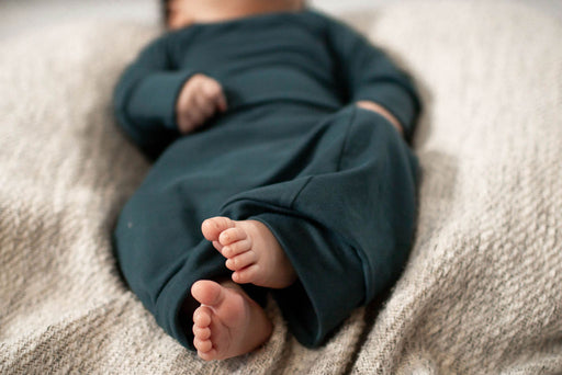 Teal Sleeper Newborn Gown - Zipease