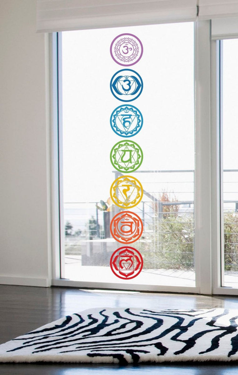 Chakra Symbol Wall Decals 7 Piece Set Teeyantra