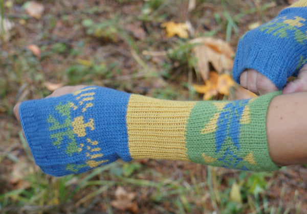Women's 100% Alpaca Fingerless Mittens