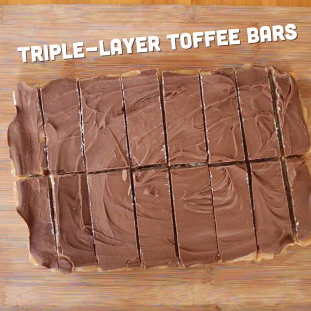 Triple-Layer Toffee Bars